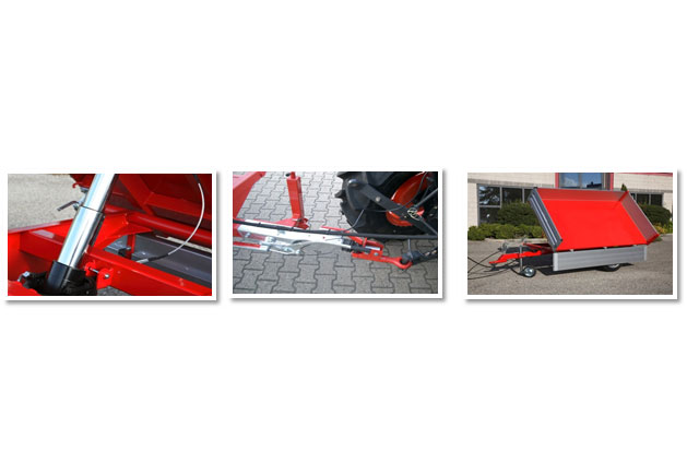 Hydraulischer 3-Seitenkipp-Anhänger
